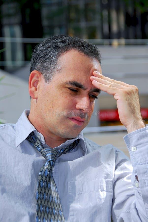 Businessman unhappy royalty free stock photos