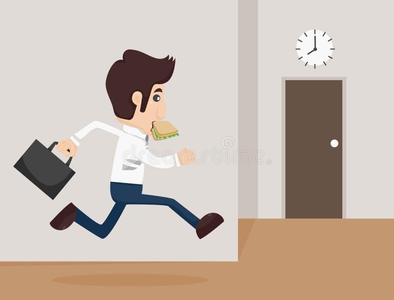 Businessman urgent. Eps10 vector format stock illustration