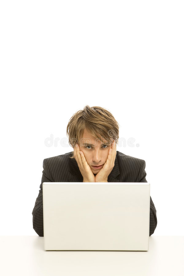 Download Businessman Uses Laptop Stock Images - Image: 2386314