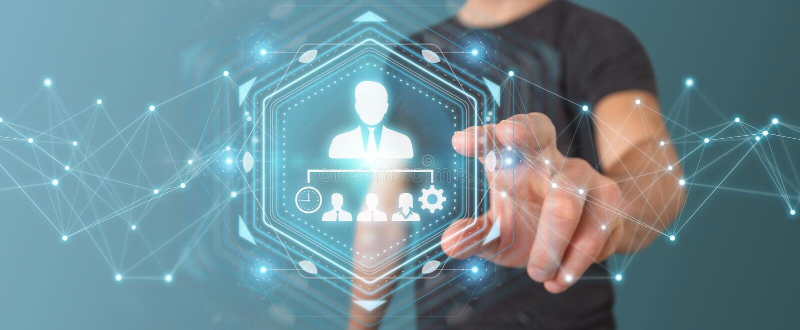Businessman using business leadership chart 3D rendering vector illustration