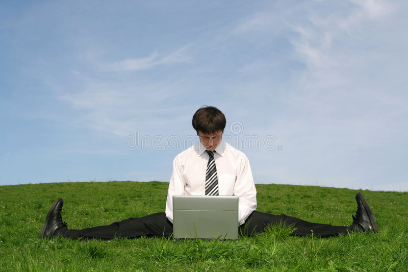 Download Businessman Using Laptop Stock Photo - Image: 2320730