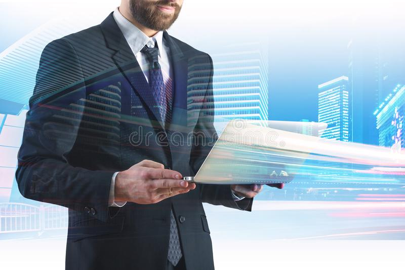 Technology and communication concept stock photos