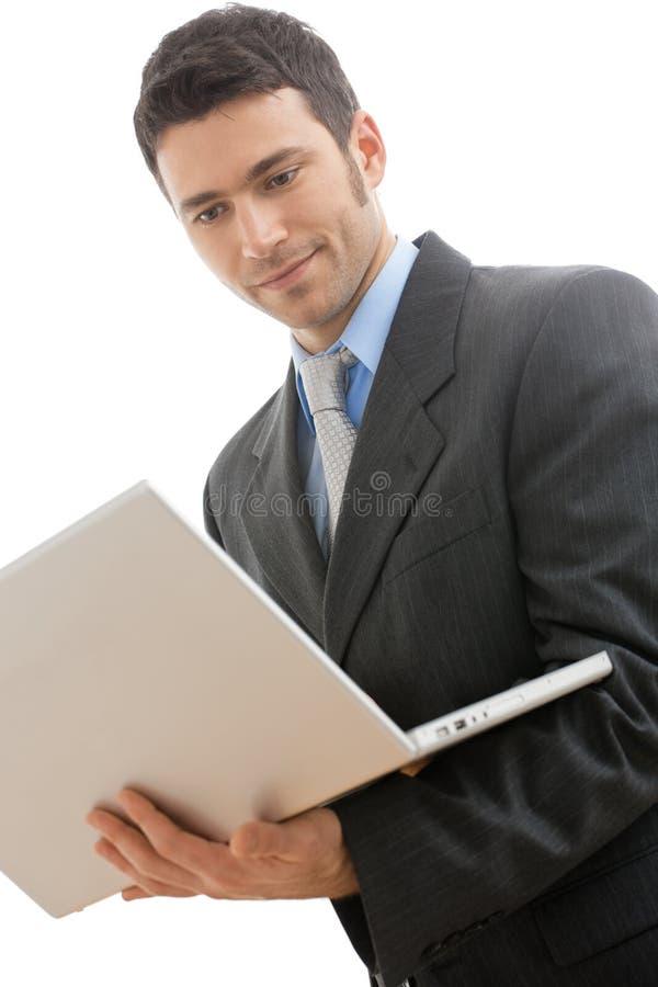 Download Businessman Using Laptop Computer Stock Photo - Image: 12702536