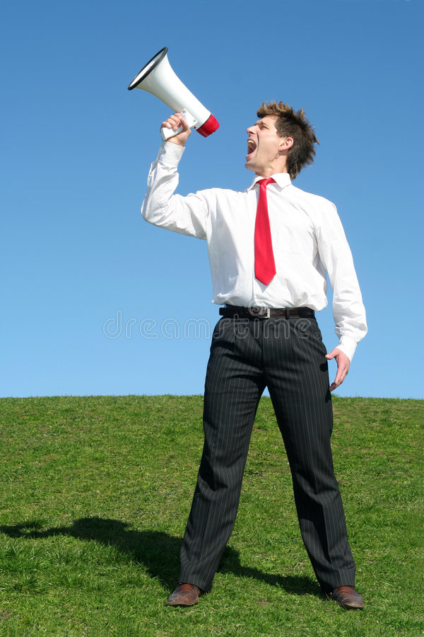 Download Businessman Using A Megaphone Stock Photo - Image: 2262596