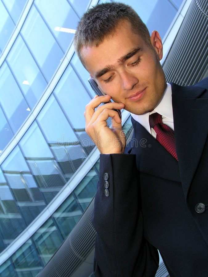Download Businessman Using A Mobile Phone Stock Image - Image: 212809