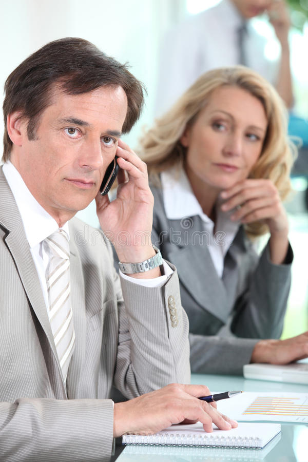 Download Businessman Using A Mobile Phone Stock Photo - Image: 26464750