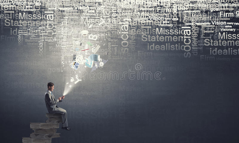 Businessman using mobile stock images