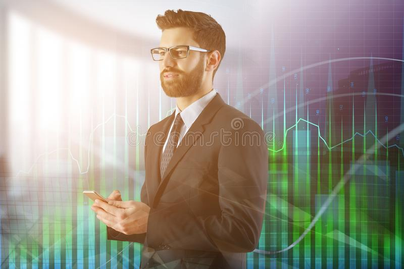 Technology, finance and economy concept stock images