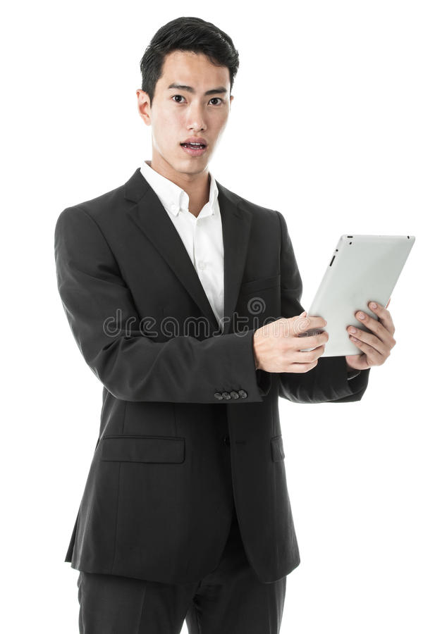 Businessman using Tablet royalty free stock image
