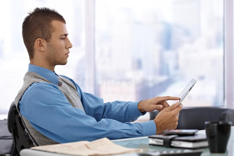 Download Businessman Using Tablet Computer Royalty Free Stock Images - Image: 23992889