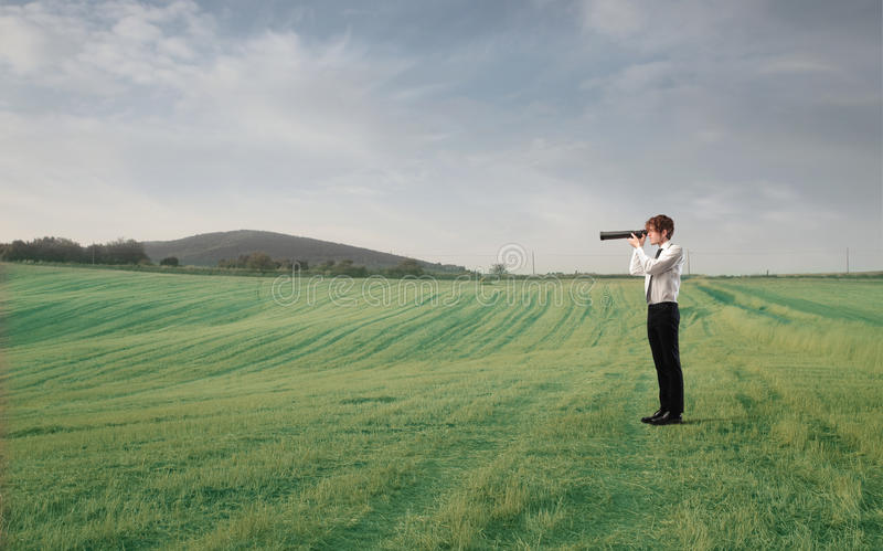 Download Businessman Using A Telscope Stock Image - Image of object, progress: 31804345