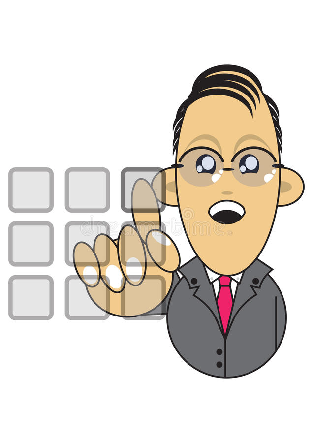 Download Businessman Using Touchscreen Illustration Stock Illustration - Image: 16290540