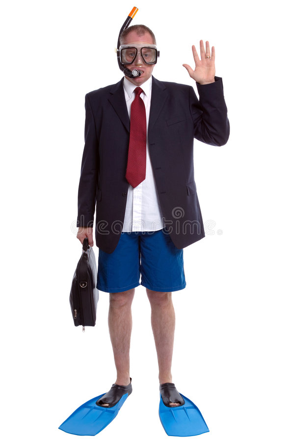 Businessman on Vacation royalty free stock photos