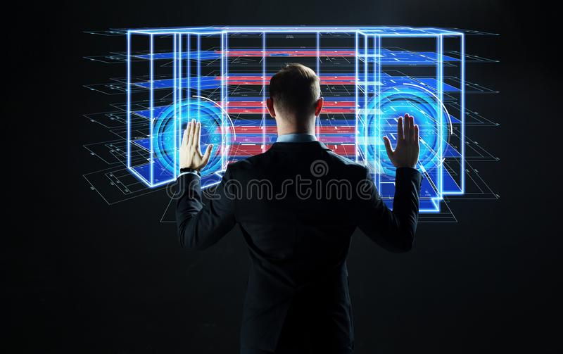 Businessman with virtual construction project stock image image of download businessman with virtual construction project stock image image of digital corporate 115329447 malvernweather Gallery