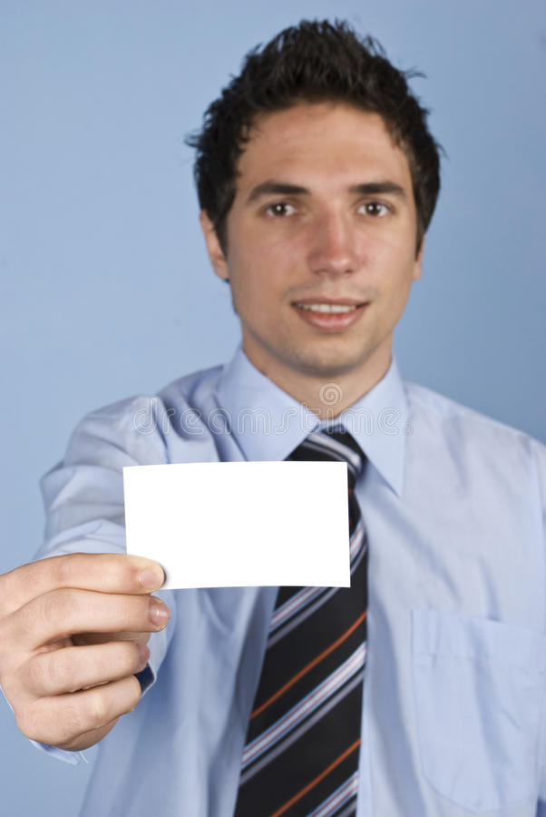 Download Businessman With Visiting Card Stock Photo - Image: 12532312