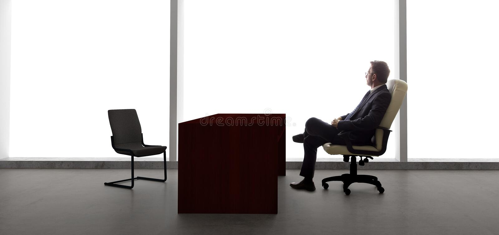 Businessman Waiting For Client or Meeting royalty free stock photos