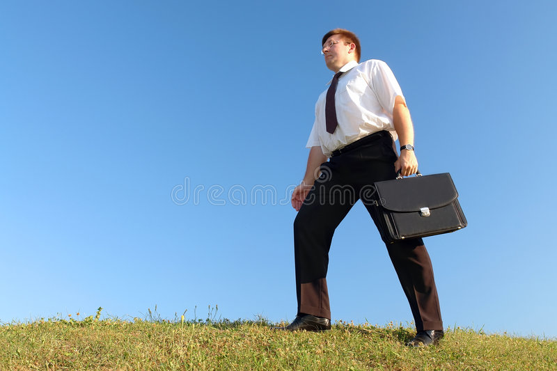 Download Businessman walk stock image. Image of field, business - 2841837