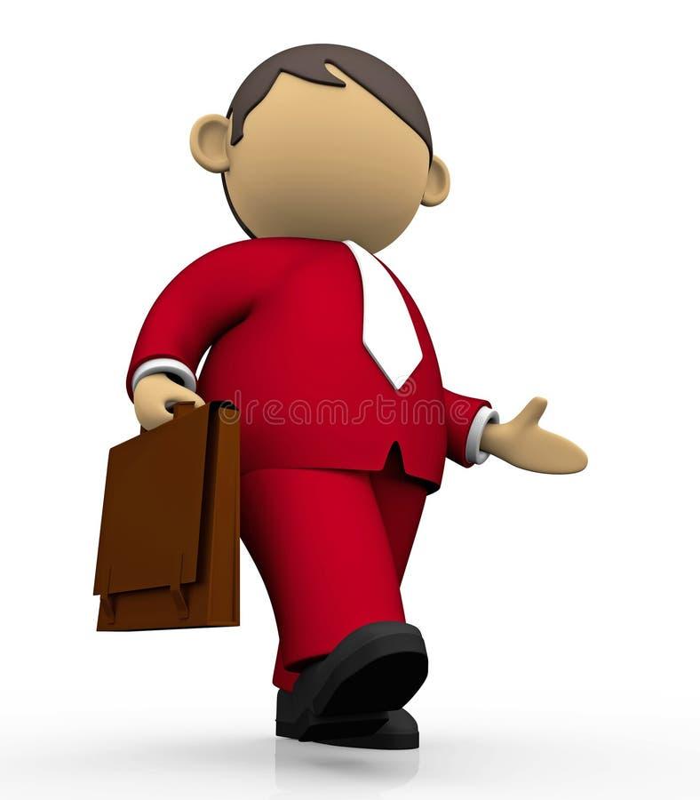 Businessman walking stock photos