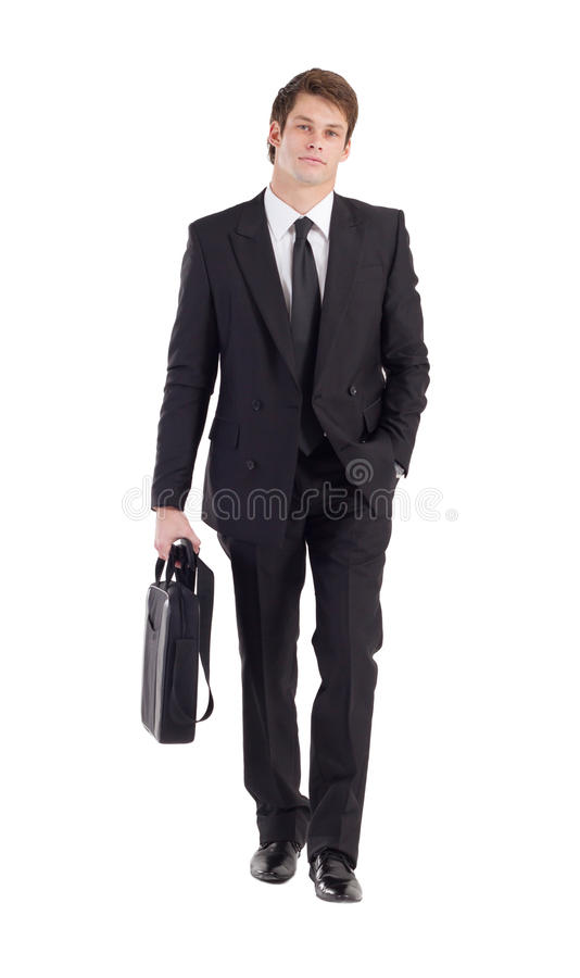 Businessman walking stock photography