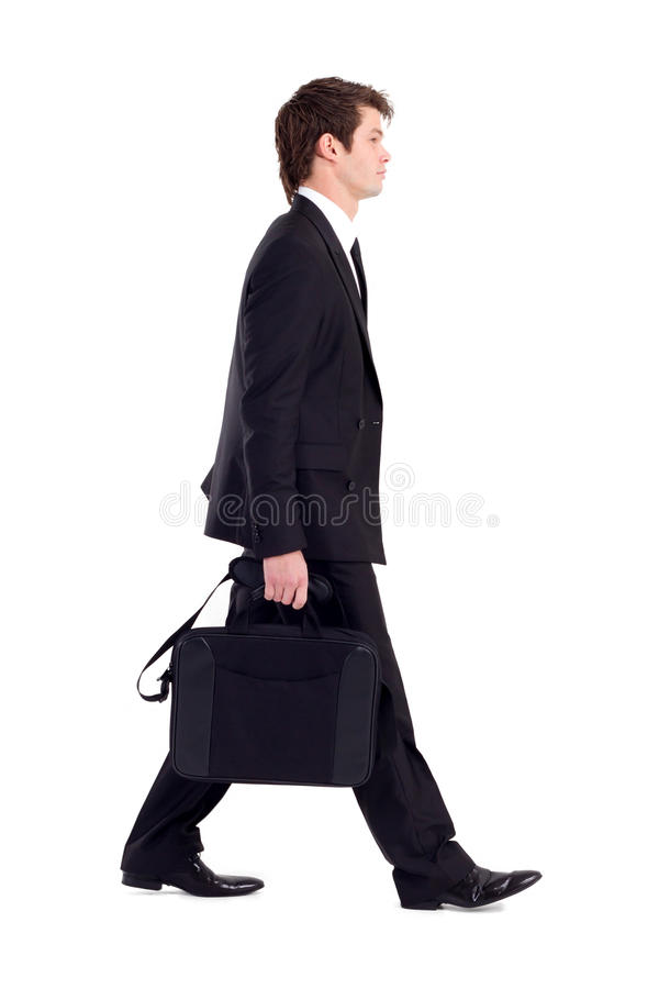 Businessman walking royalty free stock photos