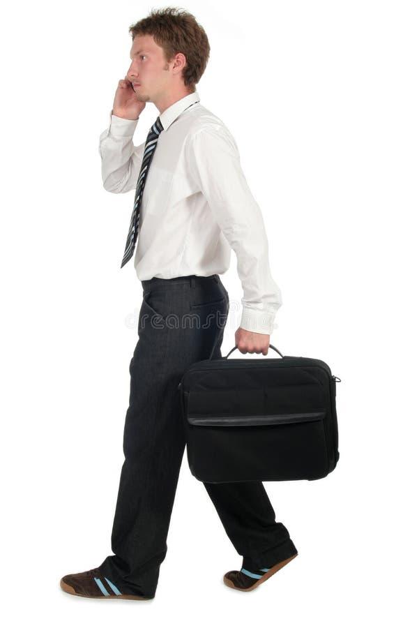 Businessman Walking royalty free stock photos