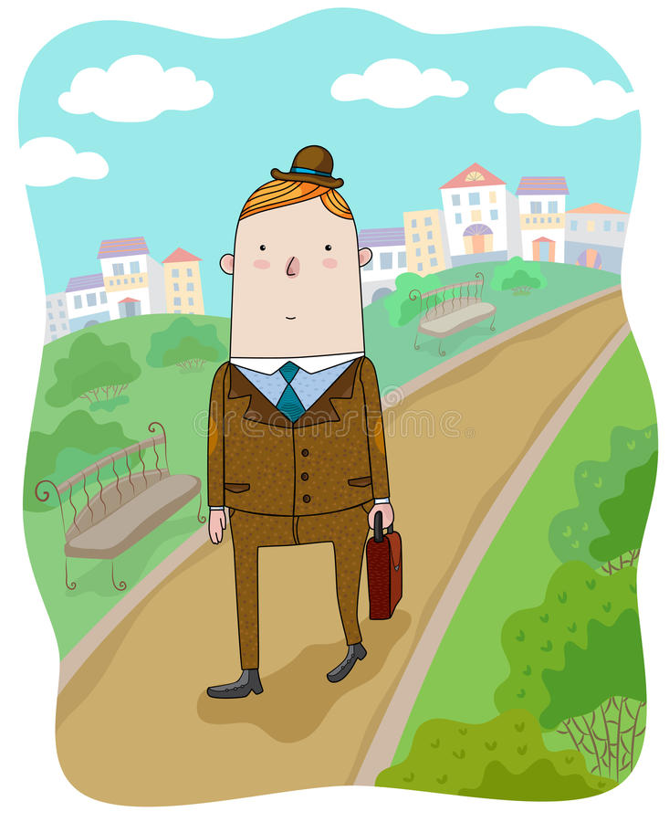 The Businessman Walking Royalty Free Stock Photography