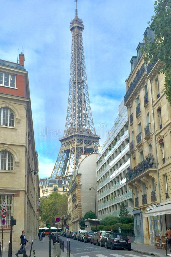 Eiffel Tower landmark Paris - France royalty free stock photo