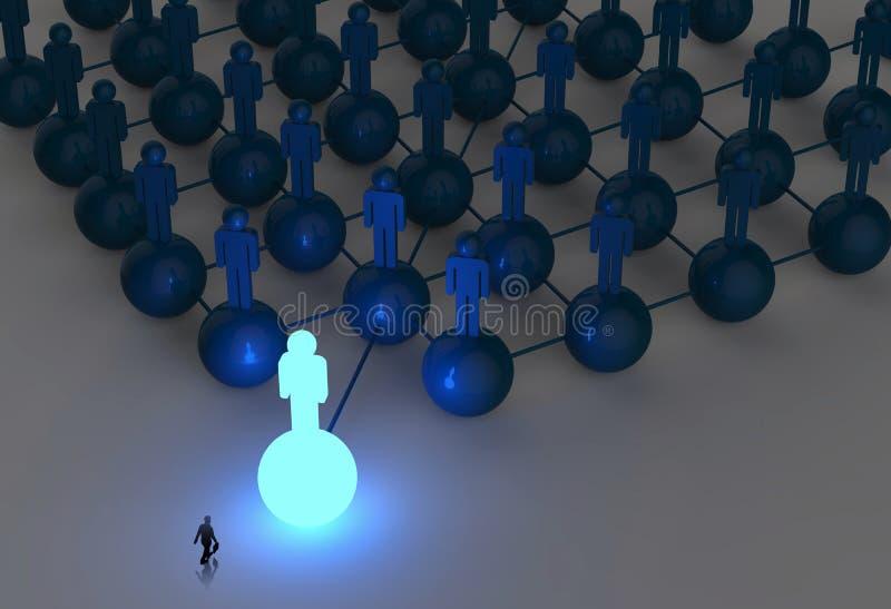 Businessman walking 3d light growing human vector illustration