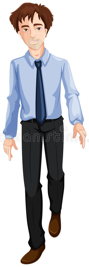 A Businessman Walking Royalty Free Stock Photo
