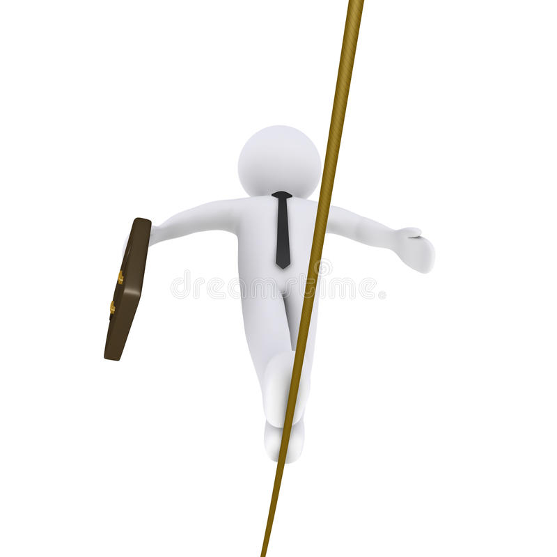 Download Businessman Is Walking On A Tightrope Stock Image - Image: 31546821