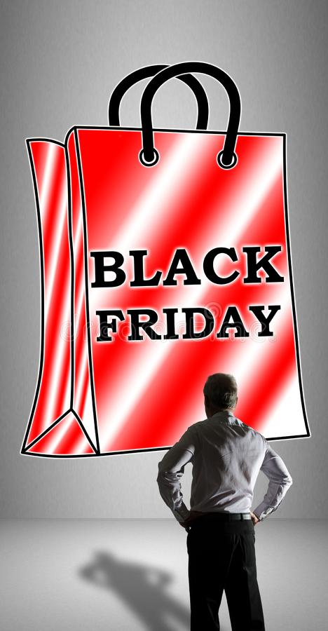 Black friday concept watched by a businessman stock photos