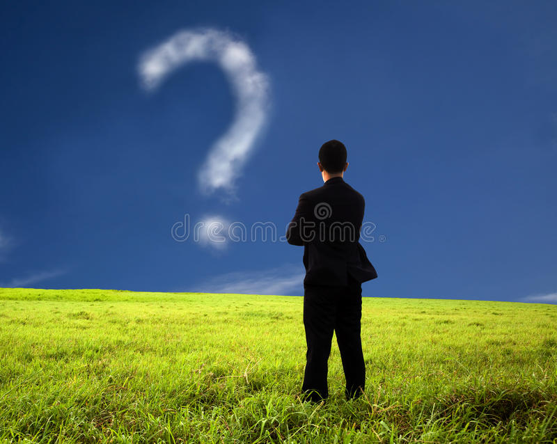 Download Businessman Watching The Question Mark Royalty Free Stock Images - Image: 16281389
