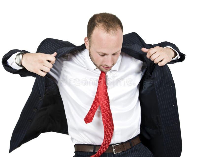 Businessman wearing coat royalty free stock photo