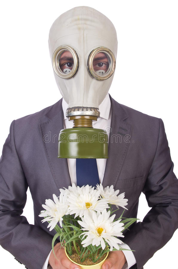 Download Businessman Wearing Gas Mask Stock Image - Image: 34286115
