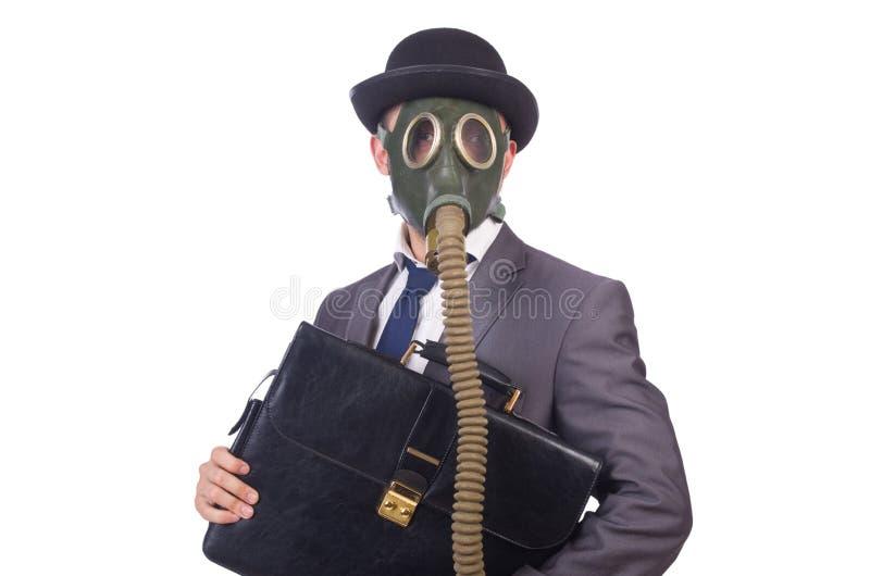 Download Businessman Wearing Gas Mask Stock Image - Image: 36978253