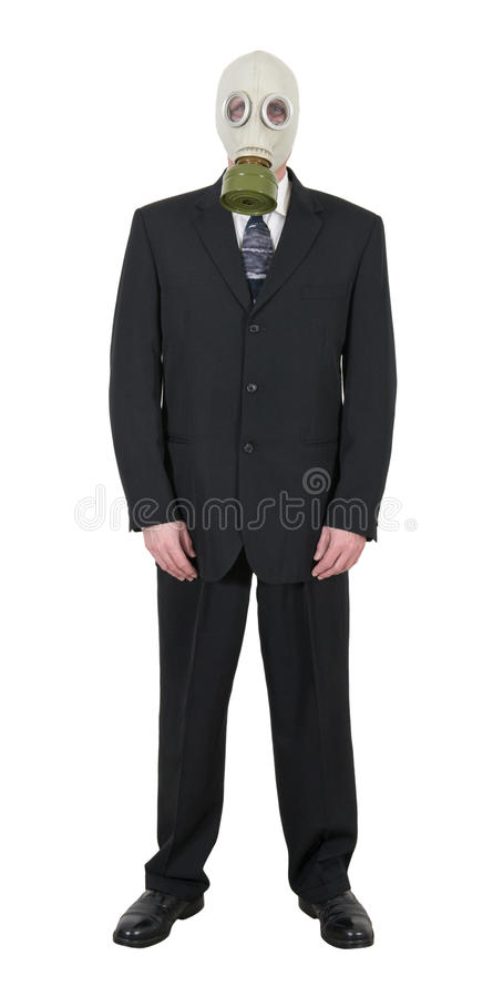 Download Businessman Wearing Gas Mask, Pollution Global Warming Isolated Stock Image - Image: 28338307