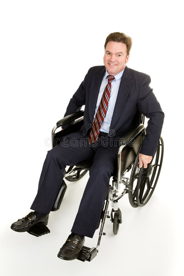 Businessman in Wheelchair royalty free stock image