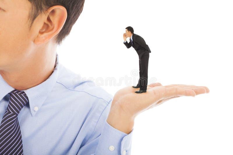 Businessman whisper about secret stock photos