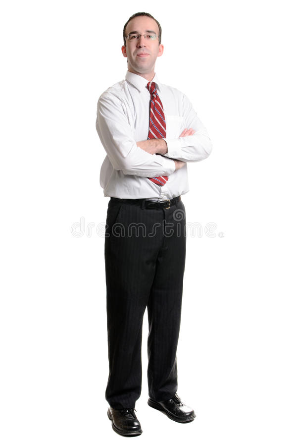 Businessman On White stock photography