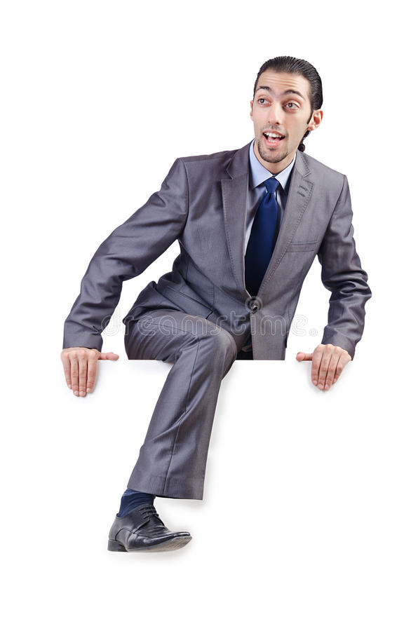 Download Businessman  on the white stock image. Image of executive - 26053005