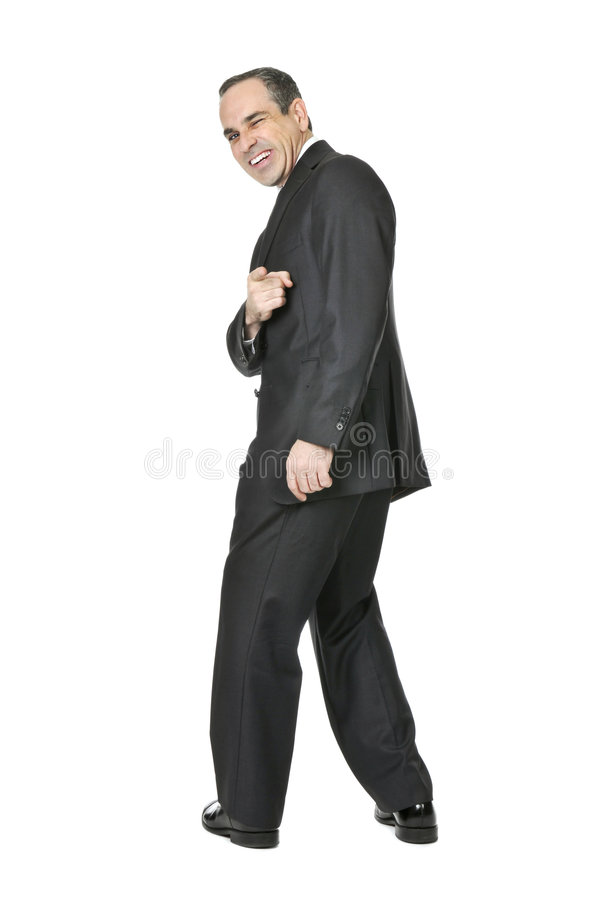 Businessman On White Background Royalty Free Stock Images