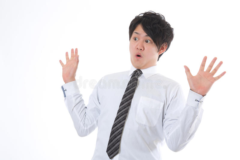 Download The Businessman Who Is Surprised Stock Image - Image: 25003067