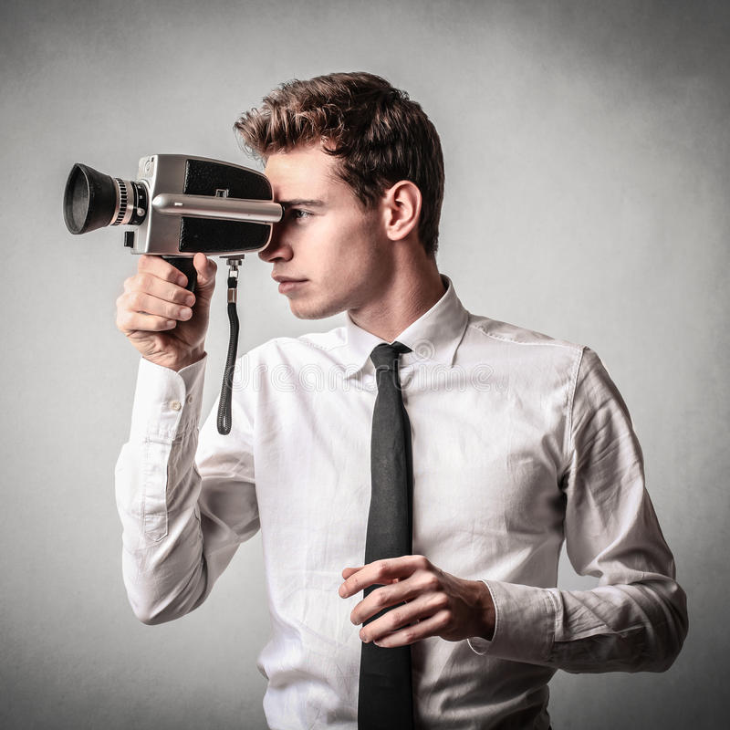 Free Businessman With A Camera Royalty Free Stock Images - 39516869
