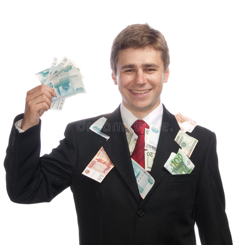 Free Businessman With Money Royalty Free Stock Image - 10138236