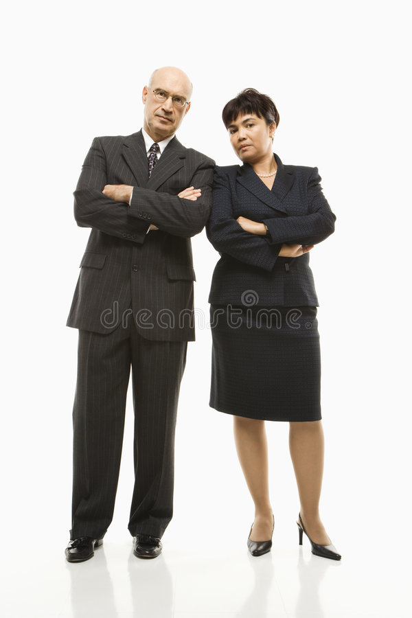 Businessman and woman. royalty free stock images