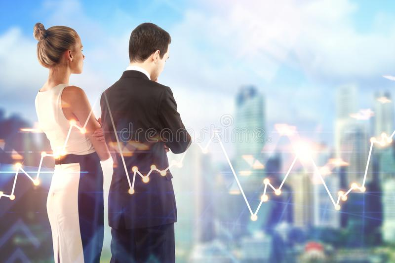 Finance and teamwork concept stock photos