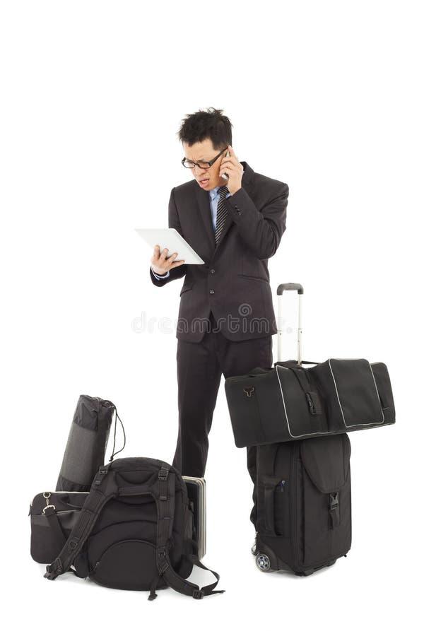 Download Businessman Wonder At Reading Bad News On Tablet Stock Image - Image: 38786015