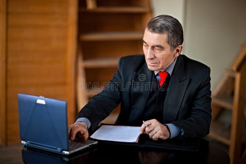 Businessman at work royalty free stock image