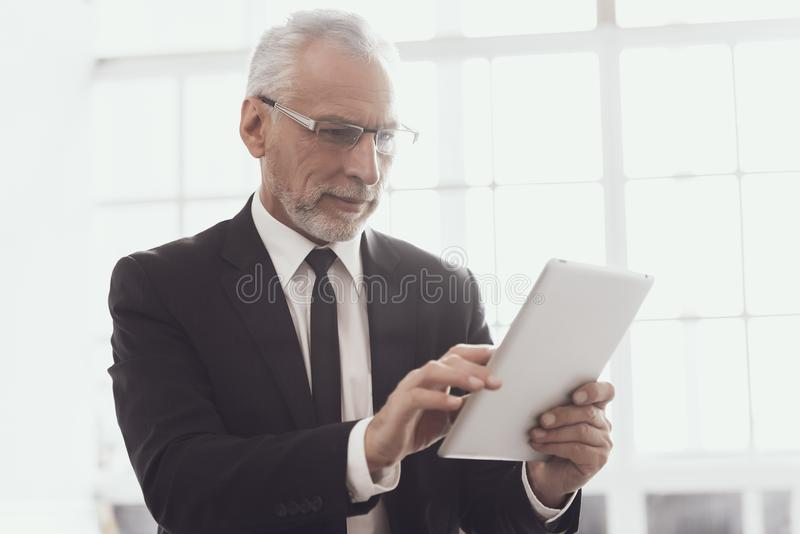 Businessman at Work in Office. Corporate Lifestyle royalty free stock image