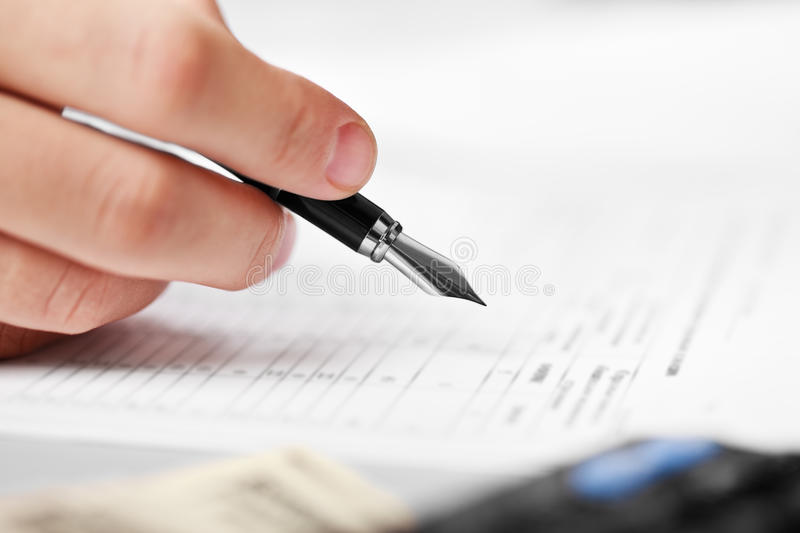 Download Businessman working stock photo. Image of document, financial - 22514376